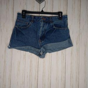 Forever 21 high waisted denim shorts size 29